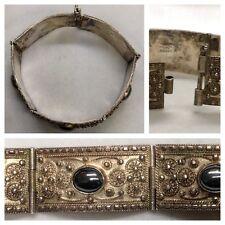 antiguo pulsera 925 Plata Pulsera plata con Hematita ekrem