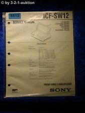 Sony Service Manual ICF SW12 11 Band Receiver (#5512)