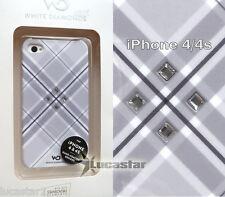 Funda para iPhone 4/4s White Diamonds GRIS con Swarovski