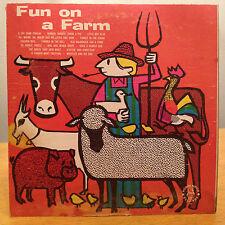 JOHN MARLO Fun On A Farm ROBIN HOOD CHILDREN'S LP *RARE*