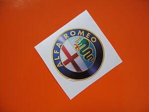 ALFA ROMEO wheel centres 3D look sticker/decal x4