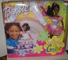 #1881 Nrfb Mattel Celebration Cake Birthday African American Barbie Doll