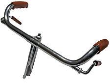 """Manubrio Cromato in Ferro Bici Epoca R / Bacchetta 26 """" -  28 """"  Ø 22,2"""