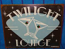 New Tin Sign- Twilight Lounge Bar- Made in USA