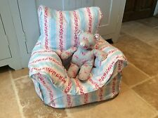 Handmade Children's Beanbag Chair Cover, Floral Stripe