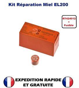 KIT DE REPARATION MIELE EL200 VARIANTES RT424012 + Fusible T6,3A LAVE LINGE