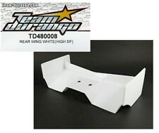RC Team Durango TD480008 Rear Wing White High Down Force DNX408 v2 1/8 Buggy NIB