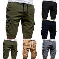 Men Casual Jogger Shorts Sports Cargo Pants Military Combat Work Gym Trousers US