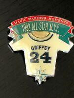 Vintage Griffey 24 Shirt Seattle Mariners 1992 All Star Game MVP Metal Pinback