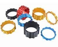 "CNC HEADSET SPACERS 1 1/8"" 28.6mm BICYCLE BIKE LIGHT ALLOY 5 10 15 20 FIXIE MTB"