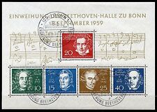 GERMANY BEETHOVEN SOUVENIR SHEET SCOTT#804 CANCELLED WITH FULL GUM NH