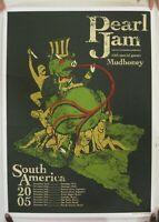 Pearl jam Poster Silkscreen South American Tour Brad Klausen