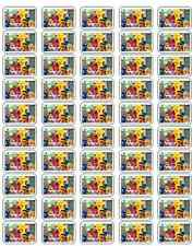 """50 Sesame Street Envelope Seals / Labels / Stickers, 1"""" by 1.5"""""""