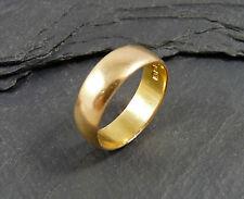 Vintage 22ct Gold Wedding Band Ring - UK Size K 1/2 - 1959