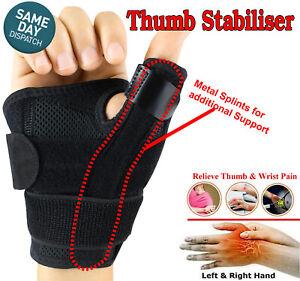 Thumb Stabiliser Support Brace support Spica Splint Thumb & Wrist Immobiliser