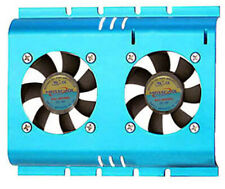 Masscool Mid-Range Blue 3.5in HDD Cooler with 2x 50mm Fans ( FHD-4B02S4 ) - NEW