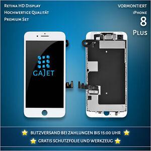 Display für iPhone 8 Plus LCD Retina Vormontiert Weiss Bildschirm Werkzeug
