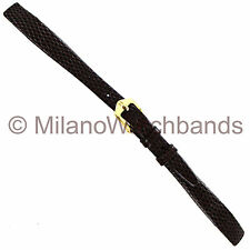 11mm Hirsch Brown Rainbow Lizard Grain Ladies Unstitched Open Ended Watch Band