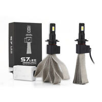 2x S7 60W H7 Car LED Headlight Kit Bulb Conversion COB Lamp 6400LM 6000K White.