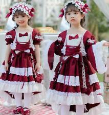 Girl Children's Cosplay Lolita Costumes Palace Princess Dress Maid Outfit Ying6