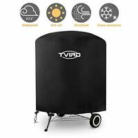 Tvird Kettle BBQ Cover, Round Barbecue Cover Waterproof Heavy Duty 420D Oxford