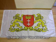 Fahnen Flagge Danzig großes Wappen Weiß Digitaldruck - 90 x 150 cm