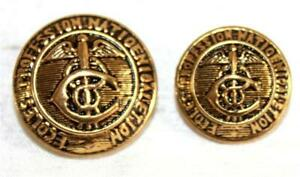 2 Ecoles Profession Natioenioaletion Medical Science Profession Goldtone Buttons