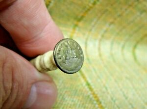 "Antique 19th Century Brass & Bovine Bone ""Such Is Life"" Ship Wax Seal Stamp"