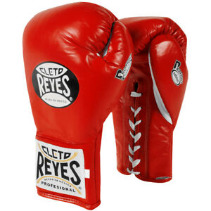 Cleto Reyes Safetec Professional Boxing Fight Gloves - Red