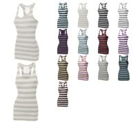FashionOutfit Women's Ribbed Racer-Back Wide Stripe Tank Top (ONLY $4.99!)