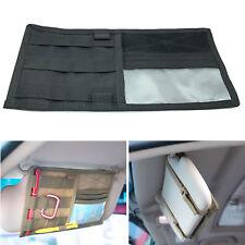 Car Sun Visor Organizer Pouch Bag Card Storage CD Card Holder Multi Pocket Black
