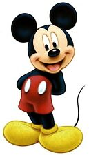 "4X8"" Disney Mickey Mouse glitter large IRON On TRANSFER Heat Vinyl hand in back"
