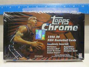 1998-99 TOPPS CHROME BASKETBALL FACTORY SEALED BOX (Nowitzki, Carter Rookies)