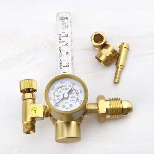 Pressure Reducer Argon CO2 Tig Mig Flow Meter 4500PSI 300BAR  For Welding