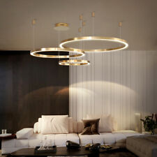 Golden Ring LED Chandelier Three-point Suspension Hanging Light Pendant Lamp