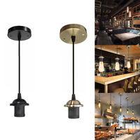 E27 Ceiling Rose Pendant Lamp Bulb Holder Socket Base Light Hanging Fitting Home