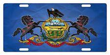 Pennsylvania State FLAG  License Plate Commonwealth Emblem Paper Version
