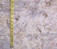 "7 yards 54"" w.Cotton Contemporary Brush Stroke Neutral Color Print Fabric w/Gold"