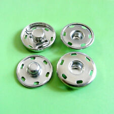 8 Metal Snap Fastener Press Stud Hold Edge Repair Sew On Button Silver 15mm M191
