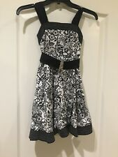 Girls Formal party dress Black/white Floral Speechless size 7