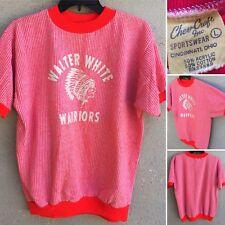 Vintage Walter White Warriors Short Sleeve Sweatshirt 60s 1960s L Chev Craft Inc