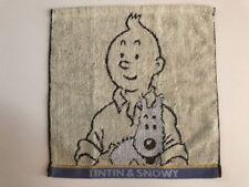 Serviette en éponge Tintin beige avec liseret bleu- Exclusivité Japon