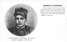 C6104) WW1, STAGNARO LORENZO DA GENOVA MEDAGLIA D'ARGENTO AL V.M. A SELTZ.