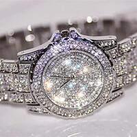 Luxury fashion Dress watchWomen's Rhinestone Crystal Quartz Ladies Wrist watches