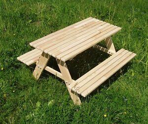 Kindersitzgarnitur Kinder sitzgruppe Tisch Bank Kindermöbel Garten HOLZ