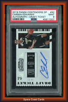 2019 CARSEN EDWARDS Panini Contenders Draft Ticket RC Rookie AUTO /99 PSA 9