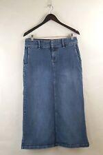 Tommy Hilfiger 10 Denim Jean Stretch Skirt Long Maxi Modest