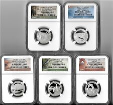2014 S clad Quarter Proof Set NGC PF70 ER Early Releases National Parks ATB