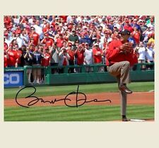 Barack Obama Autographed Repro PHOTO First Pitch Washington Nationals Signed Pic