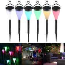 Colorful LED Solar Powered Lights Landscape Lawn Lamp Outdoor Garden Patio Decor